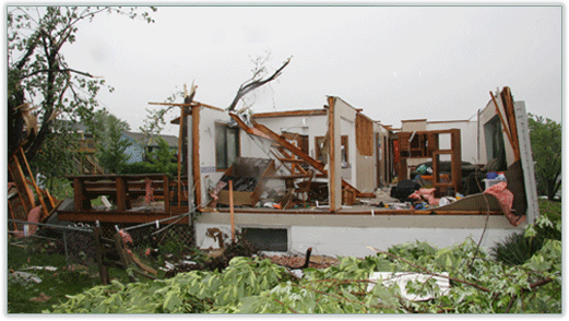 Image of Tornado Damaged Home