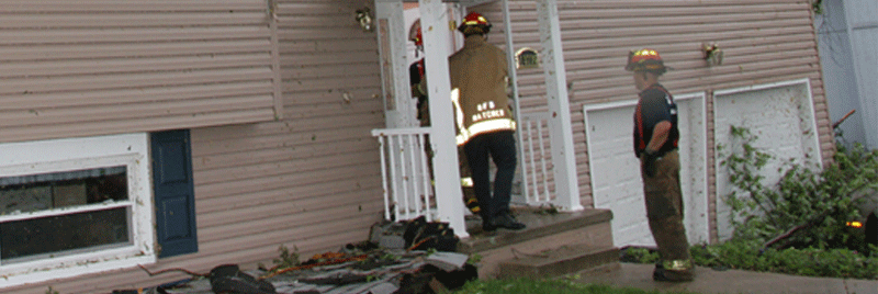firefighters going door to door