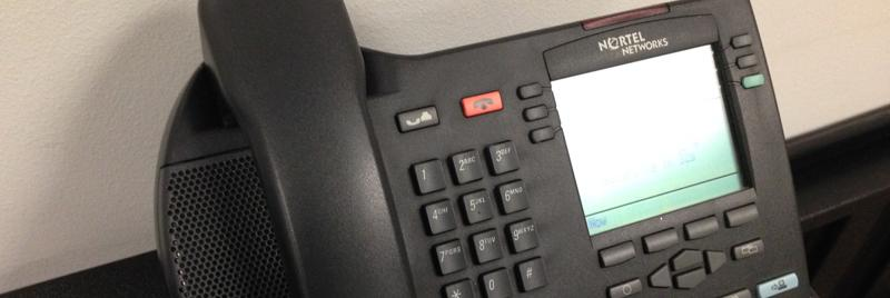 photo of telephone receiving alert