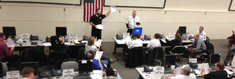 emergency operations center meeting